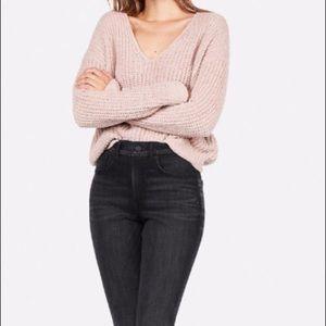 NWT Cozy Chenille Shaker Knit V-Neck Sweater